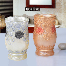 NEWYEARNEW Tooth Mug Resin European style Fashion Hotel decoration Tooth Mug Home Furnishing Decoration Bathroom accessories(China)