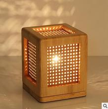 HOT Wooden desk lamp table book lamp light bedroom adornment night light lampsof the head of a bed AC220V modern lights E27