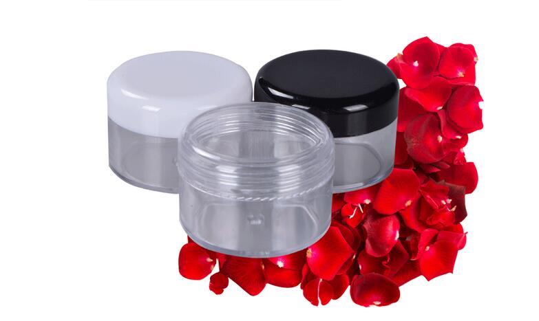 100PCS 10ML Cream Jar,Empty Plastic Cosmetic Container,Eyeshadow Cream Box,Small Sample Makeup Sub-bottling nail powder case<br><br>Aliexpress