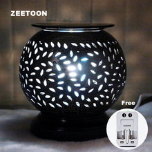 220V Vintage Electric Essential Oil Lamp Diffuser Hollow Aromatherapy Furnace Powder Incense Burner Yoga Creative Home Decor New(China)