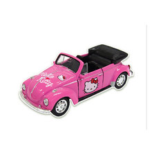 Authentic alloy back cartoon car model Decoration Beetle convertible toy bus
