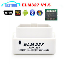 100% Hardware V1.5 Super Function White OBD OBD2 ELM327 MINI Scanner Wireless Android/PC ELM 327 Bluetooth Car CAN-BUS Protocols