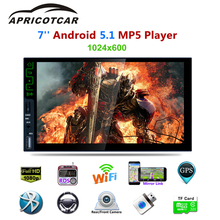 "APRICOTCAR 7 ""2 Din Touch Screen Car HD MP5 Automatic Audio Stereo Bluetooth FM AUX Player Android5.1 Support GPS 3G Internet"