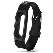 Buy New Fashion 14mm Business Style Metal Wristband Bracelet Xiaomi Mi Band 2 Strap Steel ja24 for $4.12 in AliExpress store