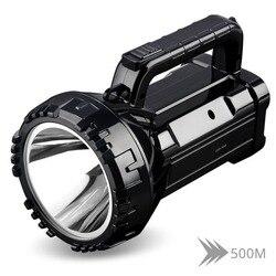 Перезаряжаемый яркий светодиодный фонарик 20 Вт с высоким питанием, прожекторы, встроенный 2800 мАч, литиевая батарея, два режима работы
