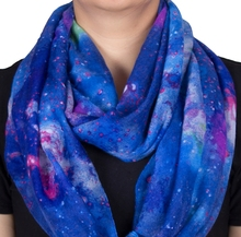 2017 New Fashion Sky Star Printing Polyester Women For Ring Scarfs Loop Scarfs Spring Autumn Lady Scaves DG1011