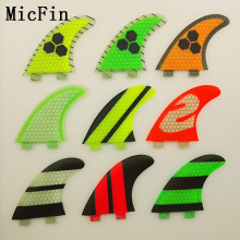 Micfin new quillas surf Honeycomb fcs Fins fiberglass Surfboard Surf Fins three fins size M-G5(China)