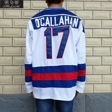 MeiLunNa Christmas Black Friday 1980 Miracle On Ice Team USA #17 Jack O'Callahan White Hockey Jersey 1702