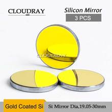 Cloudray 3 Pcs Si Laser Mirror Espelho Laser Diameter 19.05mm 20mm 25mm 30mm 38.1mm For CO2 Laser Engraving Cutting Machine