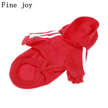 Fine joy New Dog Clothes Winter Warm Clothing Little Pets Cat Dog Pet Coat XS To XXL Autumn Sport Jackets For Chihuahua Bichon(China)
