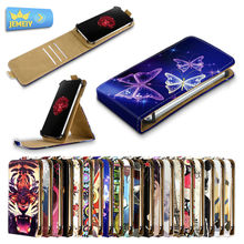 Universal Flip Cases For ZTE Grand X Quad V987/Geek V975/Obsidian Z820,Printed Leather Stand Case For ZTE case cover Middle size(China)