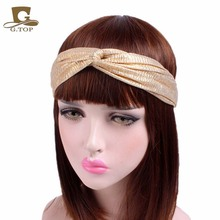 Glitter Elastic Stretch Twist Headband Turban Headwrap Headwear Women Bandanas Twist metallic Hair Bands