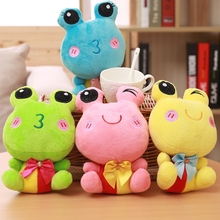 wholesale 20cm 1 piece small doll frogs plush toys animals stuffed wedding gift dress colorized frogs cloth doll