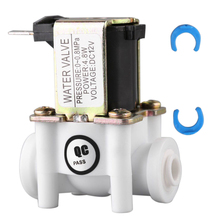 "1/2"" 20mm Electric Solenoid Valve PP N/C Magnetic Water Air Inlet Flow Switch Normally Closed DC 12V"