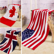 Bath Towel Summer Style Beach Towel US UK Flag Dollar Print Toalla Playa High Quality Towel Swim Sea  serviette de plage