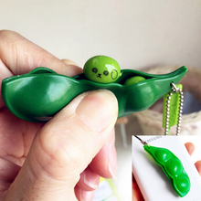 Hot Sale Simply Squeeze Those Peas Right Out Fun Beans Squishy Toys Pendants Anti Stress Ball Squeeze Funny Gadgets Toys(China)
