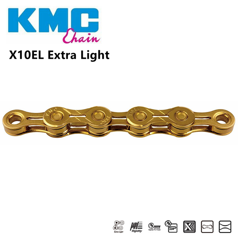 KMC X10SL 10 Speed 116 Links Chain Gold