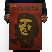 Che Guevara Character Retro Posters Advertising Nostalgic Old Bar Decorative Painting Vintage 51*35.5cm(China)