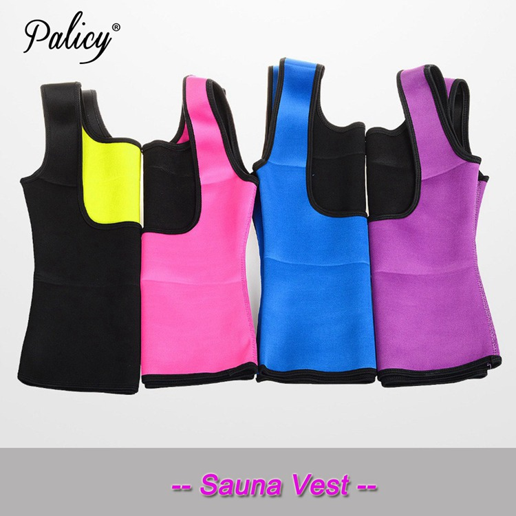 Palicy Women's S-2XL Sauna Vest Suit Neoprene Body Shaper Thermo Ultra Sweat Waist Trainer Female Tummy Control Belly Girdle 4
