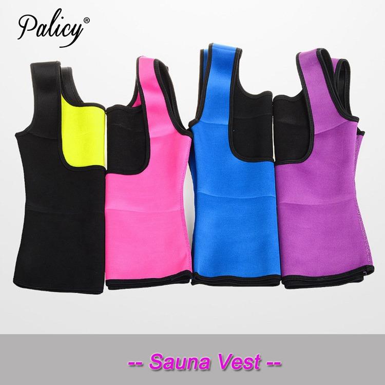 Palicy Women's S-2XL Sauna Vest Suit Neoprene Body Shaper Thermo Ultra Sweat Waist Trainer Female Tummy Control Belly Girdle 4