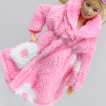Pink Special offer fashion the Winter big coats original clothes for barbie doll 1/6 dress clothing Leisure Suit eg040