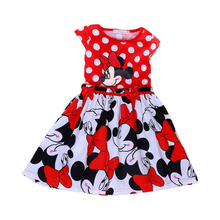 Girls Minnie Dresses For Party Children Clothing Vestidos Infantis Princesa Kids Girl Princess Costumes Summer Baby Kids Clothes(China)