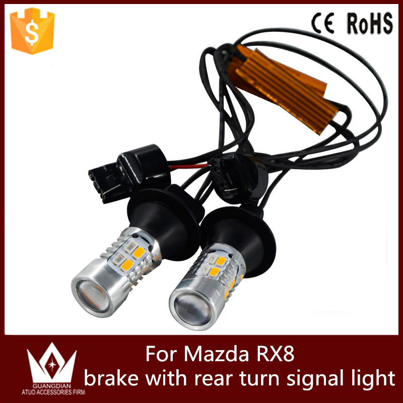 Guang Dian car light brake light with rear turn signal light tail light stop lamp and turn signal led WY21W T20 For Mazda RX8<br><br>Aliexpress