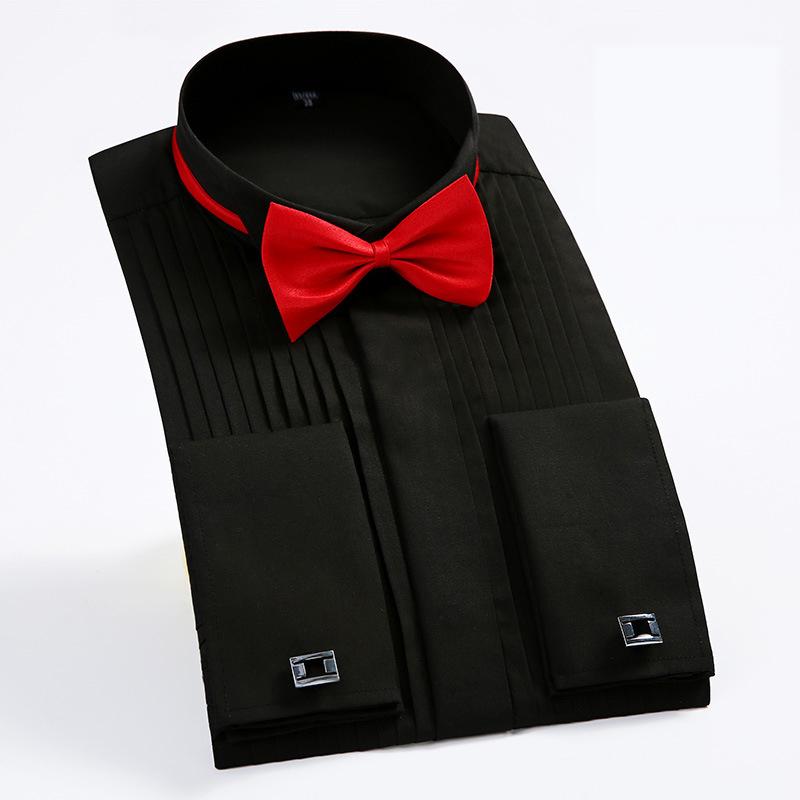 1cfc3b0bddd Großhandel Französisch Manschette Herren Formale Smokinghemden ...