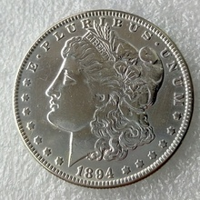 New Style 90% Silver 1894-S Morgan Dollar DEEP MIRROR PROOF LIKE FINISH Copy Coin(China)