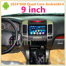 9 inch HD1024*600 Quad Core Android CAR DVD Radio FOR TOYOTA PRADO 120 Land Cruiser 120 With GPS Stereo Unit built-in WIFI
