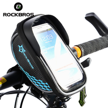 ROCKBROS Bicycle Front Top Frame Handlebar Bags Road MTB Bike Cycling Riding Bag Pannier Touch Screen Case Bicycle Accessories