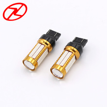 2pcs T20 W21/5W 7443 106 smd 4014 LED Car Turn Signal 21/5W Strobe Brake light bulb Red Auto Parking Warning Lamps 12V