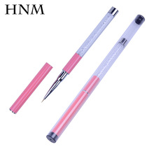 HNM Liner Nail Brush with Cap Nail Art Design Brush Pens Manicure Painting Drawing Tools Gel Nail Tools DIY Brushes Set Kit