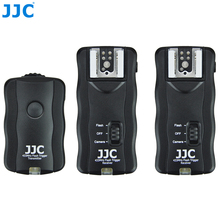 JJC JF-U2 ABS Wired Remote Control Wireless Flash Trigger Kit  433MHz Frequency System For Canon Nikon Olympus Pentax DSLR