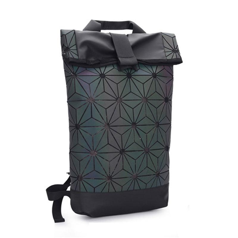 Luminous Backpacks Folding Portable Fashion Women Men Daily Bags Backpack New 2018 Geometric Joint Rucksack Girls School Bag<br>