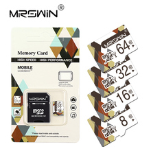 Mrswin Top sale Memory Card 4GB 8GB 16GB 32GB 64GB Micro SD card TF card Class 10 flash card For Mobile phone tablet PC+ Adapter(China)