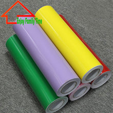 2016 Plotter Cutting Self Adhesive Vinyl Film Rolls Solid Color Decorative Vinyl Wallpaper Glass Self Adhesive Film 60CM*8M