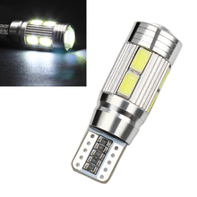 5W 10 LED Bulbs Parking Braking Lamps Indicators Car Styling CANBUS 5630 SMD DC 12V T10 LED Car Turn Signal Lights #HP(China)