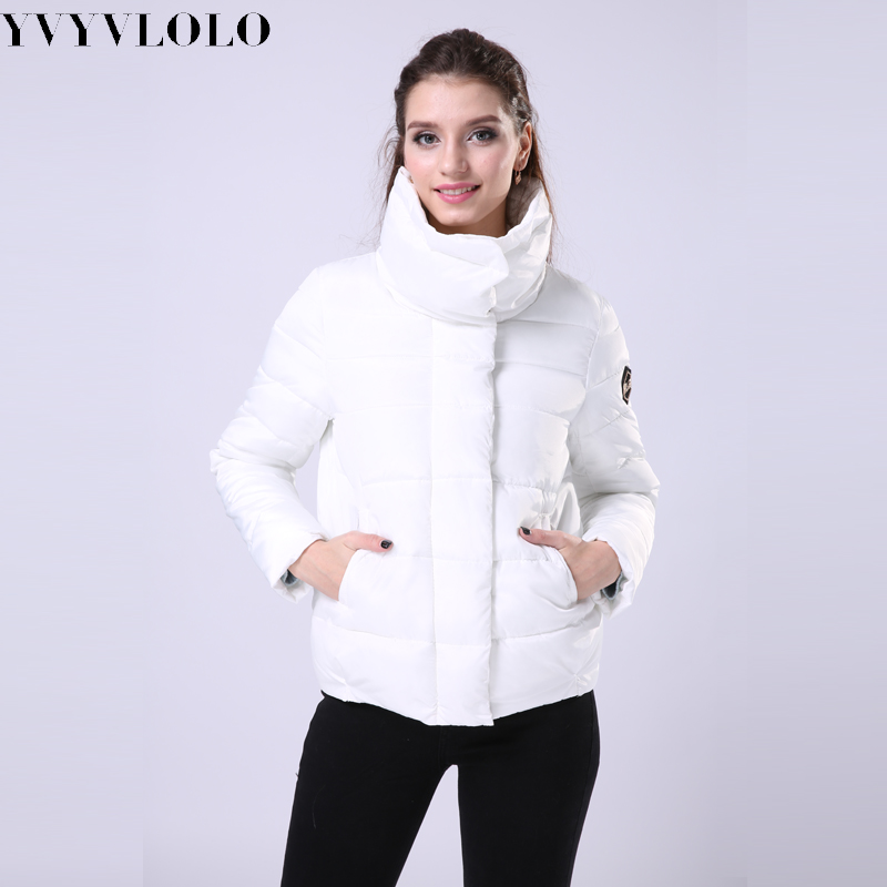 2017 New Stand Collar Winter Jacket women Fashion Down coat Jacket Women Parkas Casual Jackets Inverno Parka Wadded Plus Size Одежда и ак�е��уары<br><br><br>Aliexpress
