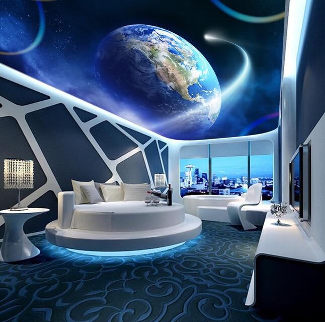 Custom 3D ceiling wallpaper, The cosmic star for the living room of the living room ceiling wall waterproof papel de parede<br>