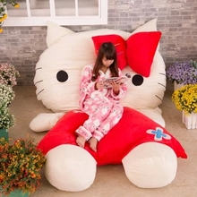 High Quality Hello Kitty Toy 230cm X 150cm Giant Huge Hello Kitty Bed Carpet Sofa Kids Gift(China)