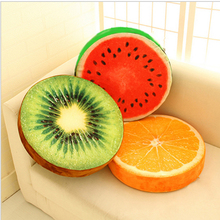 2017 New Creative lovely 3D Fruit Throw Pillow Short Plush Back With Sponge Cushion Home Furnishings Dolls Free Shipping R010