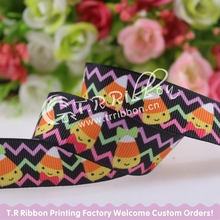 "7/8"" Halloween Candy grosgrain ribbon,heat transfer polyester ribbon, 100yards/lot, welcome custom printed"
