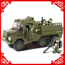 230Pcs Military Personnel Carrier Truck Building Block Toys SLUBAN 0301 Construction Figure Gift For Children Compatible Legoe(China)