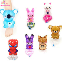 HEY FUNNY 4 pcs/set cute animal wrist balloon 11*28 cm dog bear rabbit cat gift for children party balloon kid birthday gift