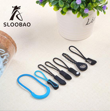 1000pcs/pack Zipper Pulls Cord Rope Ends Lock Zip Clip Buckle Black For Backpack/Clothing Accessories