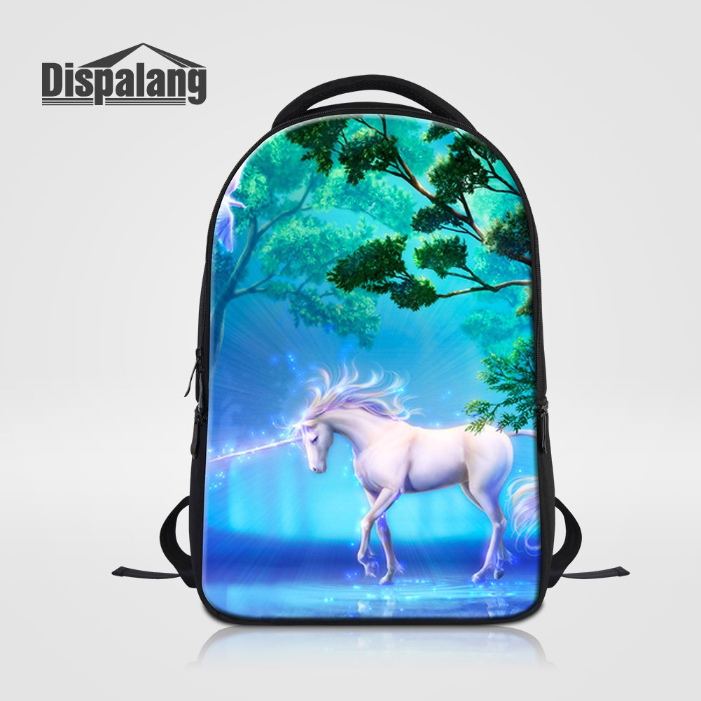 Dispalang Fantastic Unicorn Women Travel Shoulder School Bags Large Capacity Bookbags For High Class Students Men Laptop Bagpack<br>