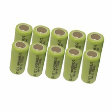 10Pcs 1.2v 2/3aa 650mah rechargeable NIMH battery in flat top, non PCM, in industrial pvc packing