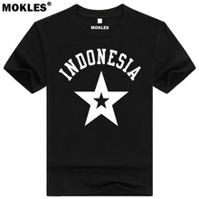 INDONESIA t shirt diy free custom made name number idn t-shirt nation flag id country republic indonesian college print clothing(China)
