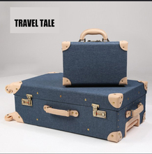 "TRAVEL TALE 20""24""26 inch Retro spinner rolling luggage trolley solid cabin suitcase genuine leather trolley bags"